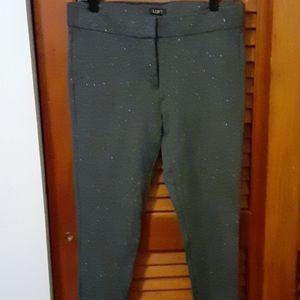 Ann Taylor Loft silver gray pants